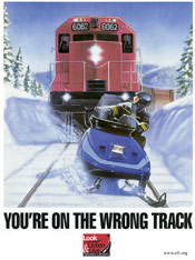 'You're on the Wrong Track' poster