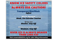 Know ice safety colors Social media meme