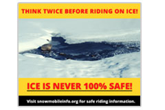 Think twice before riding on ice Social media meme