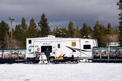 Snowmobiling education trailer