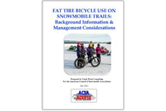 'Fat Tire Bicycle Use on Snowmobile Trails: Background Information and Management Considerations' report