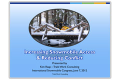 Increasing Snowmobile Access and Reducing Conflict publication