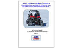 'Management Factors to Consider for Concurrent Tracked OHV Use on Groomed Snowmobile Trails' report
