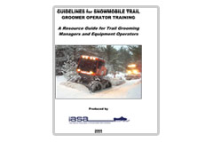 'Guidelines for Snowmobile Trail Groomer Operator Training' report'