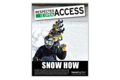 'Snow How' PSA poster