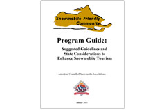 'Snowmobile Friendly Communities' Program Guide