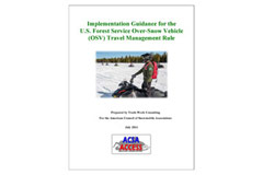 Access Guide for Snowmobiling on Private and Public Lands PDF